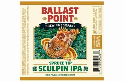 Ballast Point Spruce Sculpin IPA (6 PACK)