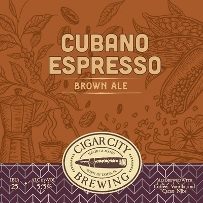 Cigar City Cubano-style Espresso Brown Ale (4 pk)