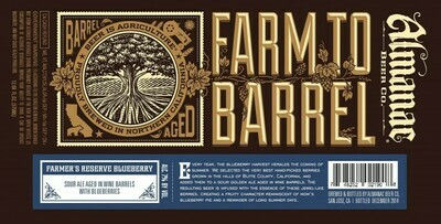 Almanac Beer Co. Farmers Reserve Blueberry - Sour/Fruited (SINGLE)