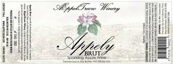 AEppelTreow Winery Appely Brut - Cider/Traditional (SINGLE)