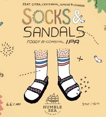 Humble Sea Brewing Socks & Sandals Foggy IPA (4 PACK)