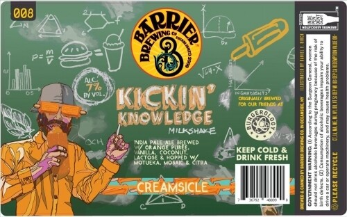 Barrier Brewing Kickin Knowledge Creamsicle Milkshake IPA (SINGLE)