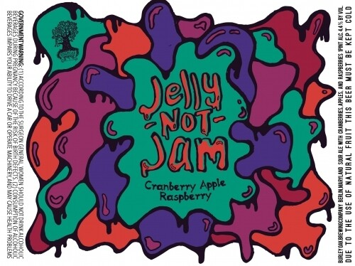 Burley Oak Brewing Company Jelly Not Jam Cranberry Apple Raspberry Sour Ale (4-PACK)