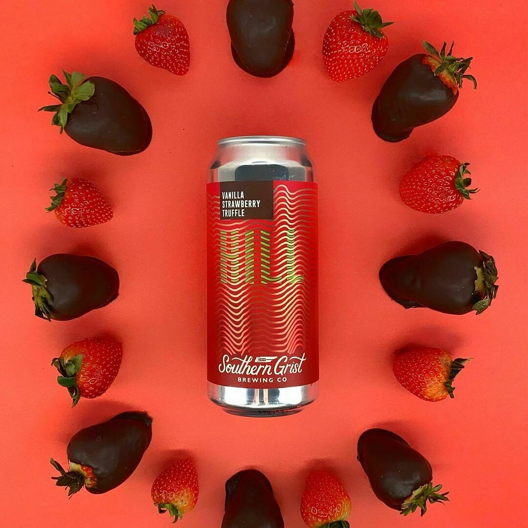 Southern Grist Vanilla Strawberry Truffle Hill Sour Ale (4-PACK)