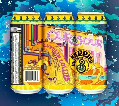 Barrier Brewing Our Sour #9 Lupulin Lollies DDH Sour IPA (4-PACK)