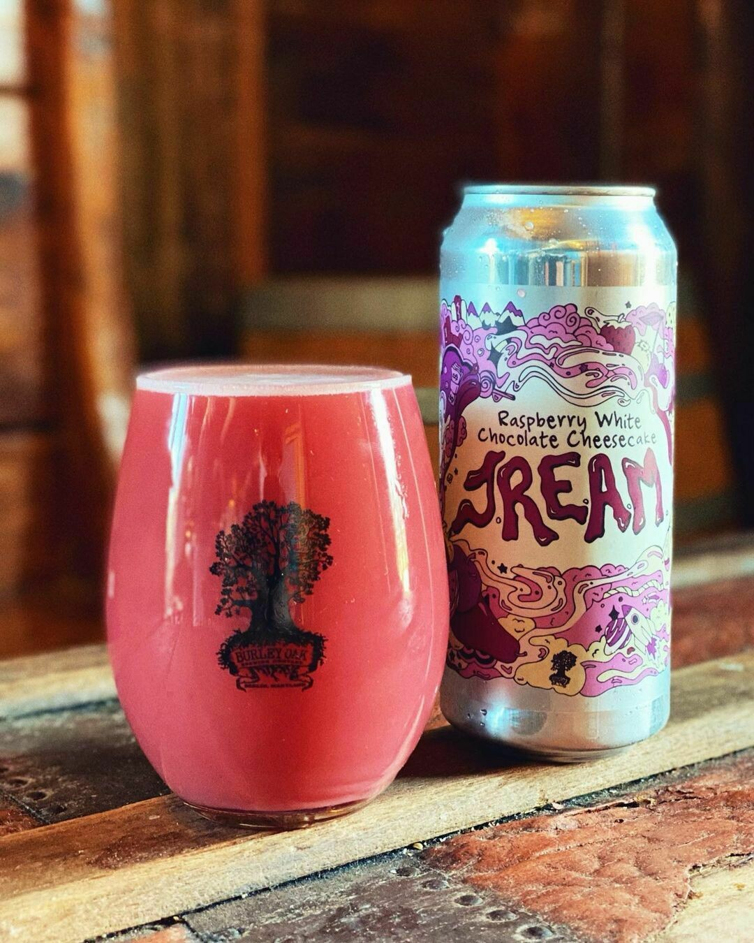 Burley Oak Brewing Company Raspberry White Chocolate Cheesecake JREAM Sour Ale (4-PACK)