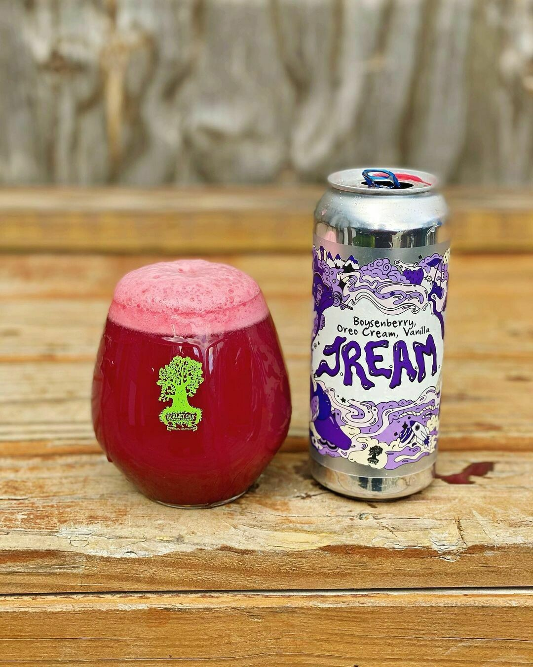 Burley Oak Brewing Company Boysenberry Oreo Cream Vanilla JREAM Sour Ale (4-PACK)