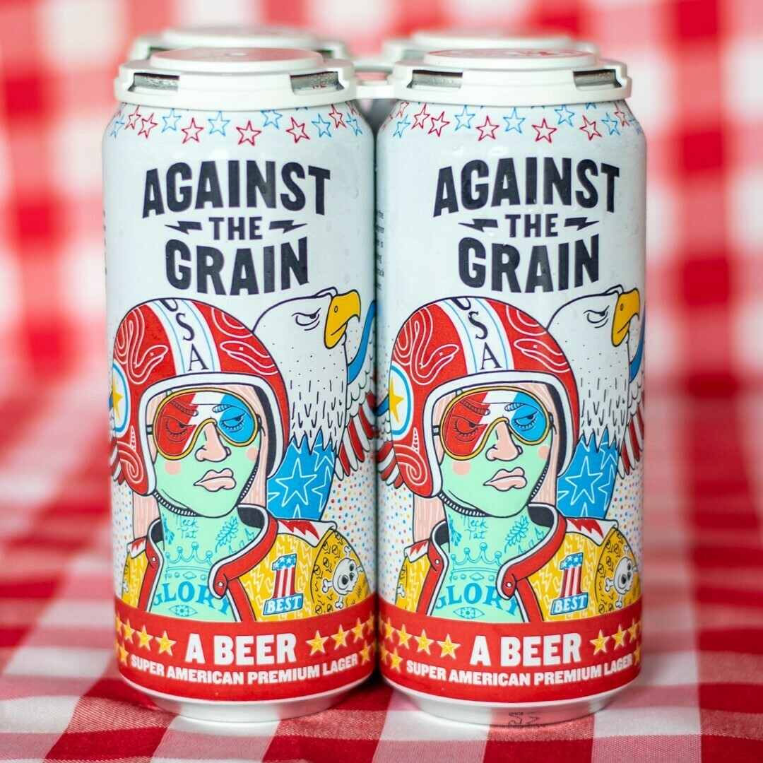 Against The Grain A Beer Usa Lager (4-PACK)