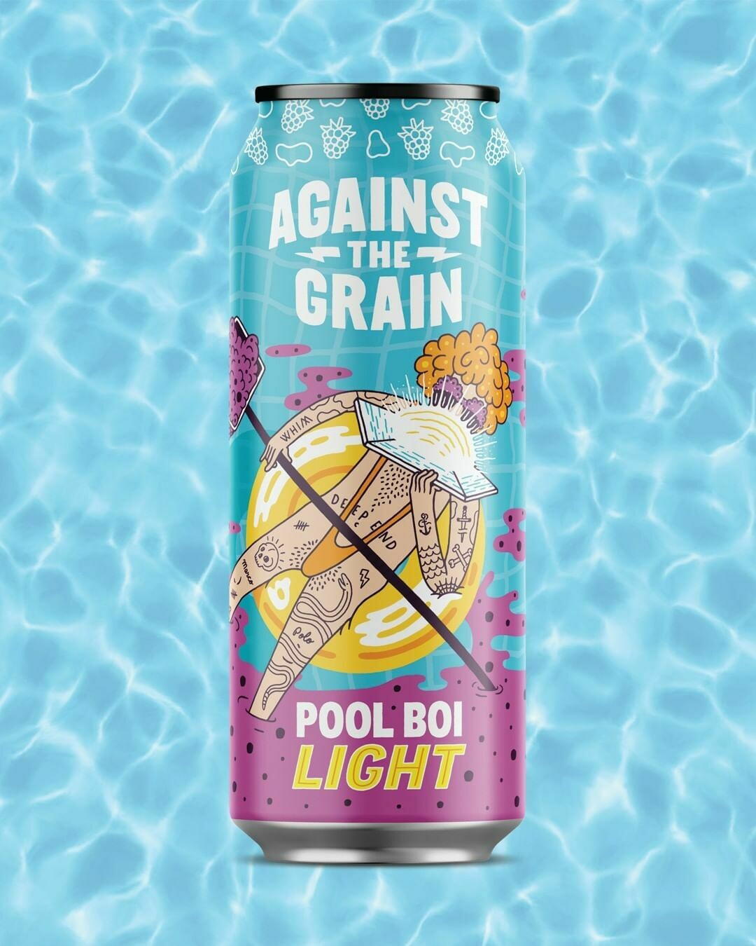 Against The Grain Pool Boi Low Cal Ale With Blackberries (4-PACK)