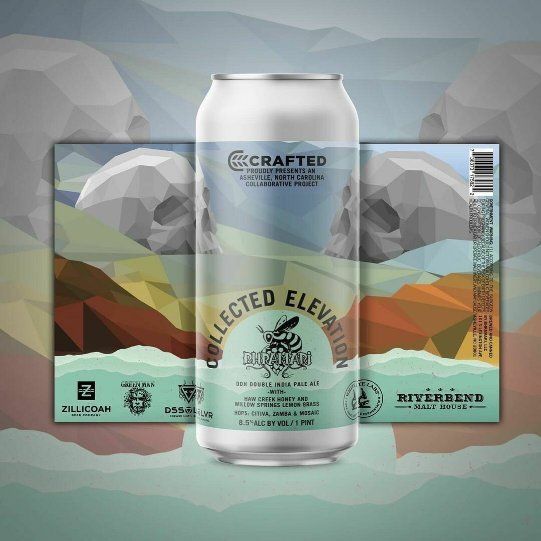 Bhramari Brewing Crafted: Collected Elevation DDH DIPA (4-PACK)