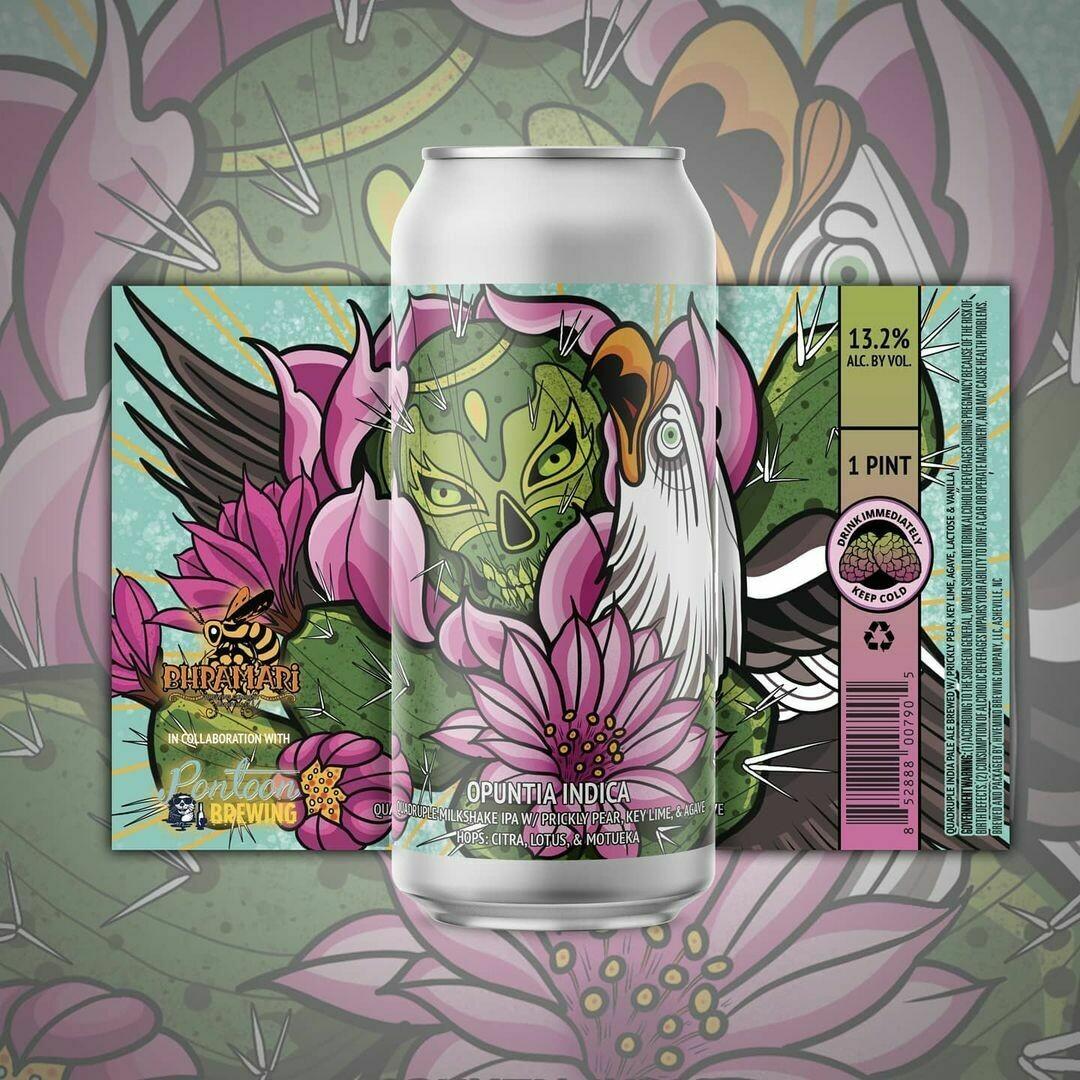 Bhramari Brewing Opuntia Indica Quad Milkshake Ipa (4-PACK)