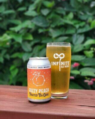 Infinite Ale Works Fuzzy Peach Fruited Tea Gose (4-PACK)