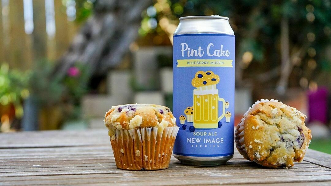 New Image Brewing Pint Cake Blueberry Muffin Fruit Sour  (4-PACK)