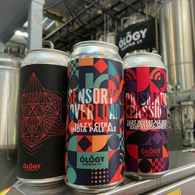 Ology Brewing Co Prismatic Passion Berliner with Cherry, Red Currant and Passionfruit (4 PACK)