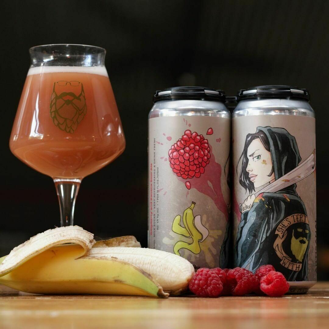Artisanal Brew Works She's Tert Fruited Sour Ale  Raspanana (4-PACK)