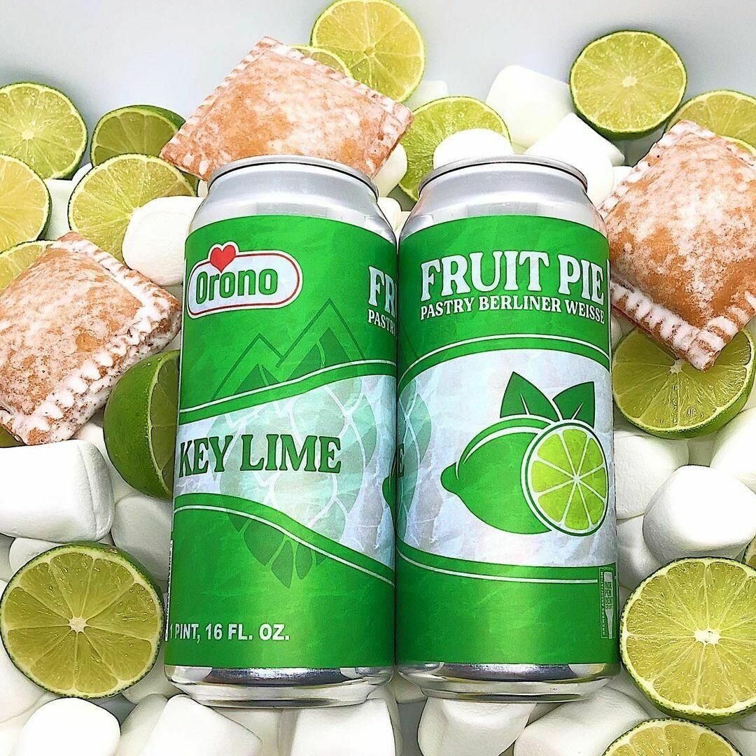 Orono Brewing Key Lime Fruit Pie Sour Ale  (4-PACK)
