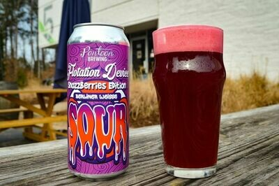 Pontoon Brewing Flotation Device Snozzberries Fruited Berliner with Vanilla & Lactose (4-PACK)