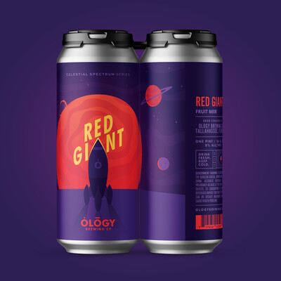 Ology Brewing Co Red Giant Imperial Berliner With Red Currant, Raspberry, Cherry, Apricot And Lactose (4 PACK)
