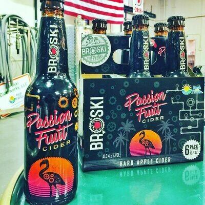 Broski Ciderworks Passionfruit Cider (6 PACK)