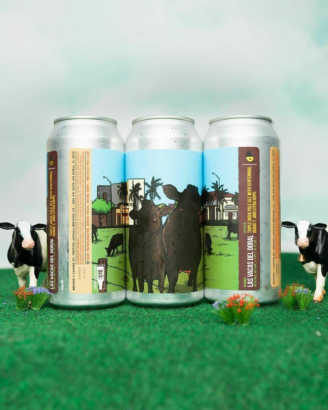 Tripping Animals Brewing Las Vacas del Doral Triple IPA (4-PACK)