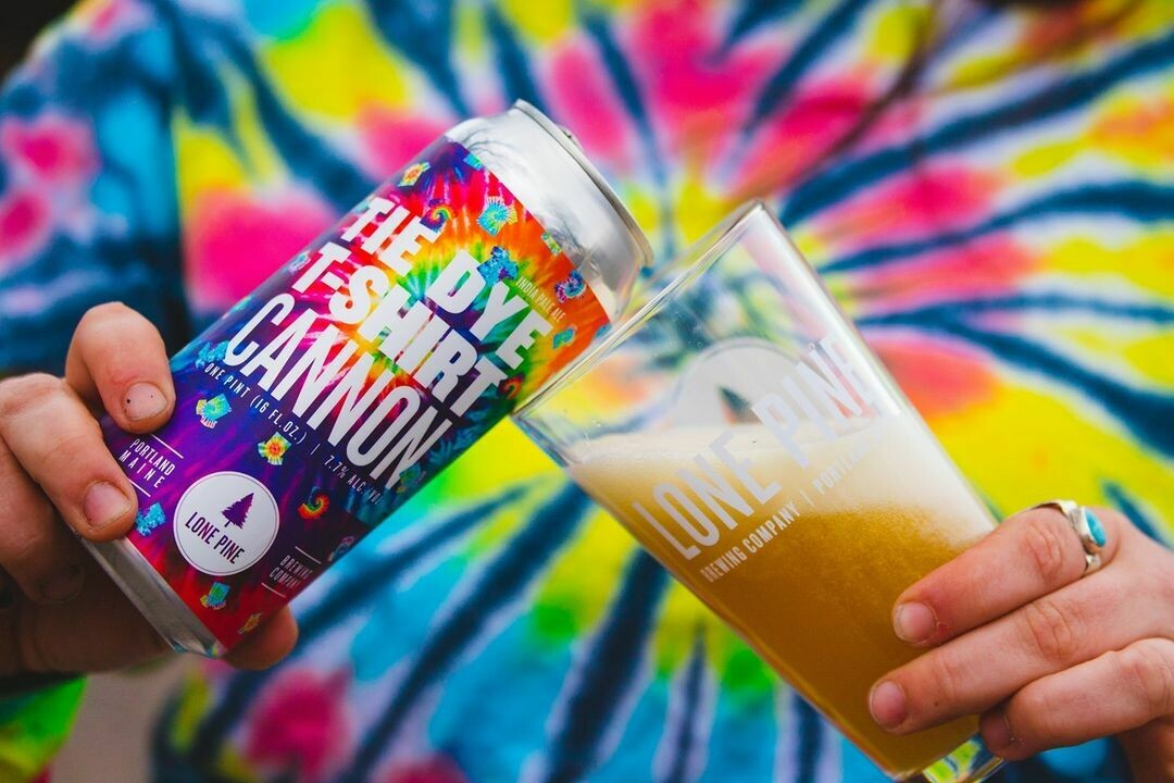 Lone Pine Brewing Tie Dye T-Shirt Cannon (4-PACK)