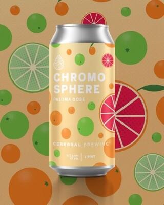 Cerebral Chromosphere Paloma with Grapefruit, Blood Orange, Key Lime & Sea Salt (4-PACK)