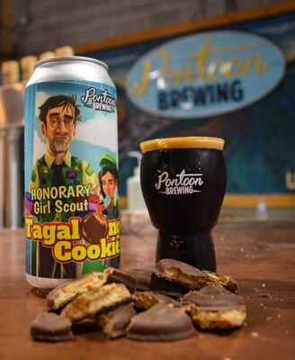 Pontoon Brewing Honorary Girl Scout Tagalong Cookie (4-PACK)