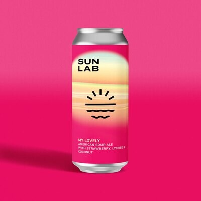 Sun Lab Brewing My Lovely Fruited Sour ALE with Strawberry, Lychee & Coconut (4-PACK)