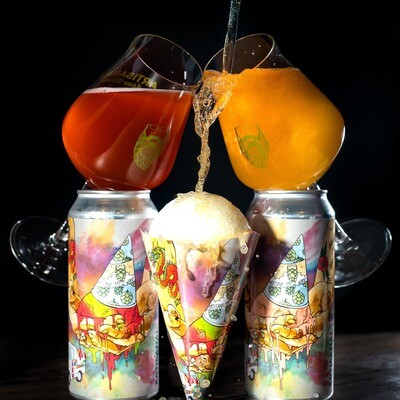 Artisanal Brew Works Snow Cone Sour ALE (Strawberry/Peach) (4-PACK)