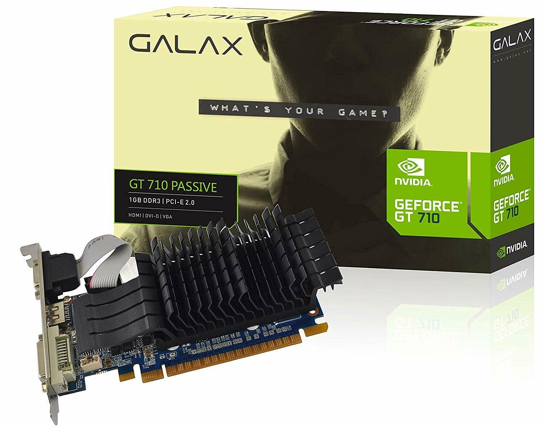 GALAX GEFORCE GT 710 Passive 1GB DDR3 64-bit HDMI/DVI-D/VGA Graphics Card