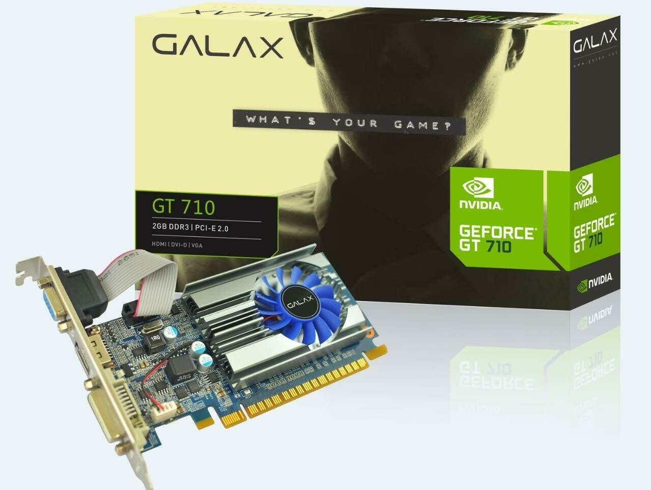 GALAX GEFORCE GT 710 2GB DDR3 64-bit HDMI/DVI-D/VGA Graphic Card