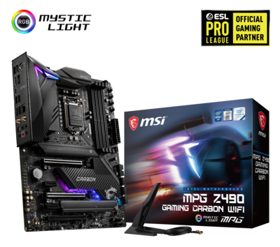 MSI MPG Z490 Gaming Carbon WiFi Motherboard