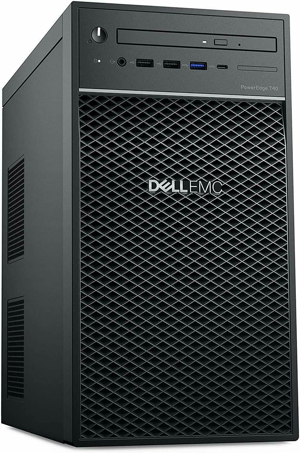 Dell PowerEdge T40 Tower Server, Intel Xeon E-2224G Processor 3.5GHz, 8GB DDR4 RAM, 1TB 7200 RPM HDD, DVDRW