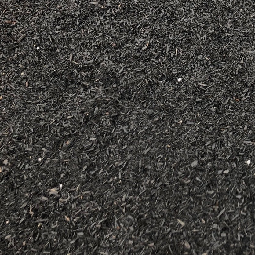 Premium Hardwood Black Dyed Mulch (per cubic yard)