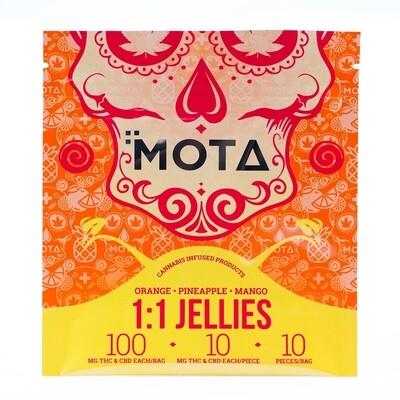 (100mg THC/100mg CBD) Tropical Jellies By Mota