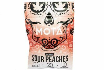 (100mg THC/ 20mg CBD) (Hybrid) Sour Peaches By Mota