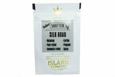 Silk Road (Dutch Kush & Romulan) (1g) Shatter by Island Extracts