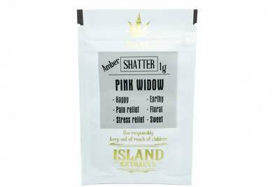 Pink Widow Shatter (1g) by Island Extracts