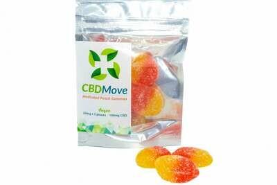 Vegan Peach CBD Gummies By CBD Move