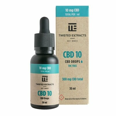 (300mg CBD) CBD 10 Oil Drops By Twisted Extracts *** Now Orange Flavored ***