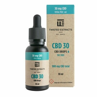 (900mg CBD) CBD 30 Oil Drops By Twisted Extracts **** Now Orange Flavored ****