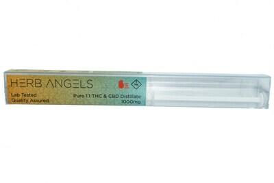 Pure 1:1 THC & CBD Distillate (1000mg) Syringe By Herb Angels