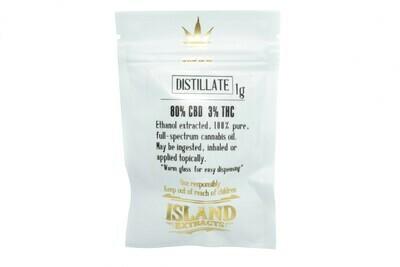 Distillate CBD (1g) Syringe By Island Extracts