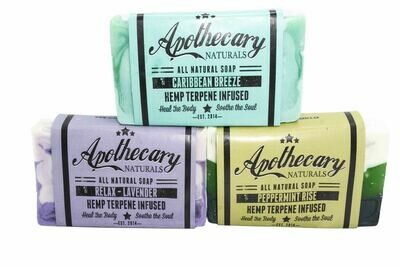 Organic Hemp Infused Medicated Soap By Apothecary (Discontinued Available While Supplies last)