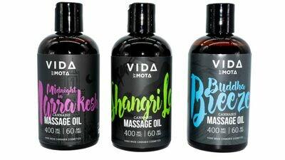 (400mg THC/60mg CBD) Massage Oils By Vida