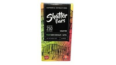 Vegan Dark Chocolate Sativa Shatter Bar By Euphoria Extractions (Sugar Free) (250mg) (Current Strain: Jamaica Haze)