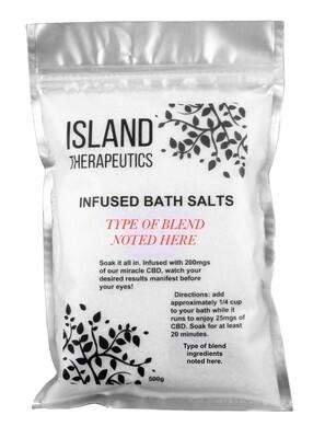(200mg CBD) Bath Salts By Island Therapeutics