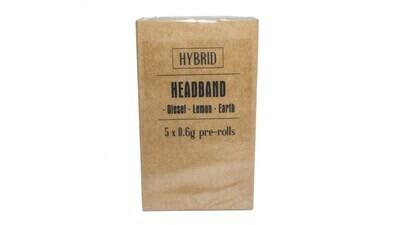 Headband (Indica Dom) Premium Preroll (5/Pack)