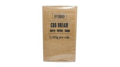 CBD Dream (Hybrid) Premium Preroll (5/Pack)