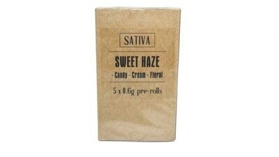 Sweet Haze (Sativa) Premium Preroll (5/Pack)